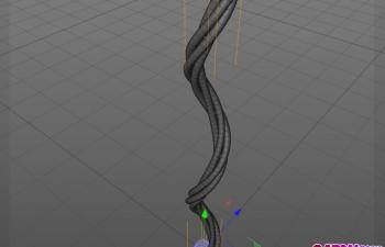 运动图形制作绳子藤条生长动画C4D教程