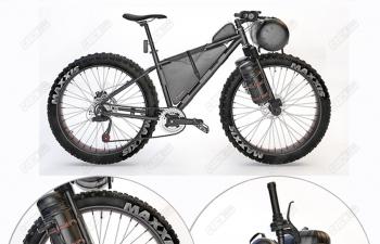 C4D山地自行车交通工具模型 Mountain Bicycle