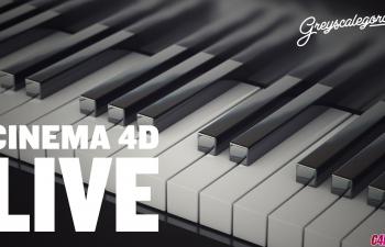 C4D教程 运动图形克隆工具制作钢琴琴键教程
