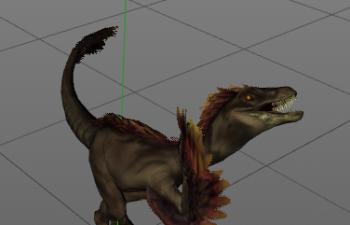 恐龙绑定带动作06