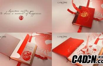 C4D中文实例教程《兰蔻广告C4D制作解析》