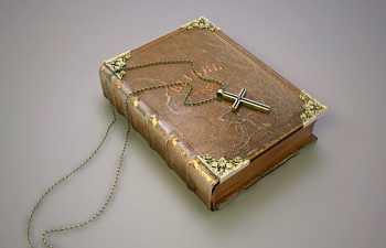 Biblio Book 古老的书 十字架项链