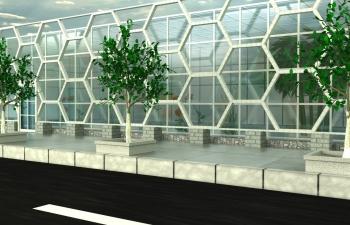 植物馆建模渲染