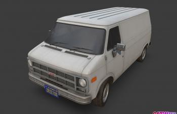 1994款GMC麦康德厢式货车面包车汽车C4D模型 gmc vandura 1994
