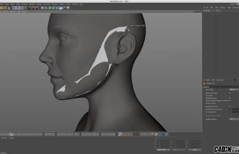 CINEMA 4D教程——日常三维建模实习工作流程:拓补与重塑二