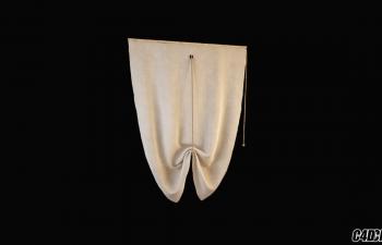 C4D模型 现代装修 窗帘模型41