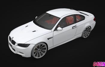 宝马M3轿跑汽车C4D模型 Bmw m3 e92 coupe gts