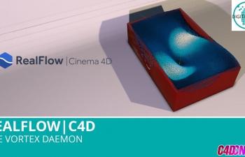 Realflow流体插件制作游泳池液体C4D教程