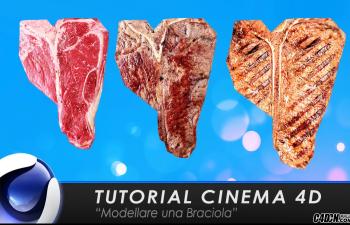 CINEMA 4D教程—— 蜡肉薰肉的表现手法与UV贴图