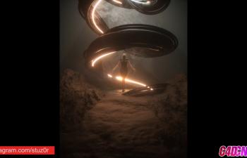 C4D教程 OCTANE渲染器制作科幻风格人物静帧海报