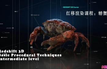 红移渲染教程:螃蟹