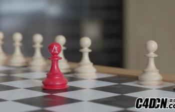 C4D教程-Octane Render国际象棋