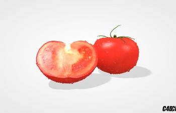 C4D蔬菜模型 西红柿 番茄 Tomato