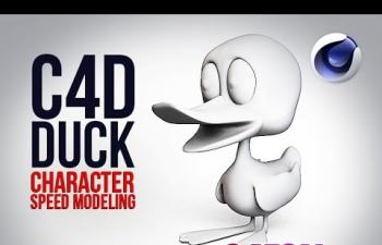 C4D建模教程 卡通鸭子(倍速)C4D SpeedModeling - Duck