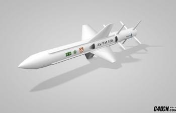 C4D AVMT300导弹模型