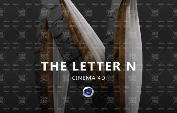 Arnold Render阿諾德渲染器字母N文字設計渲染C4D教程