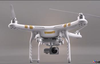 C4D无人机建模渲染视频教程