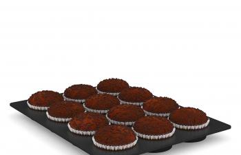 C4D模型 巧克力蛋挞黑面包模型