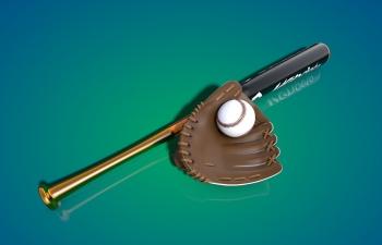 棒球装备套装模型