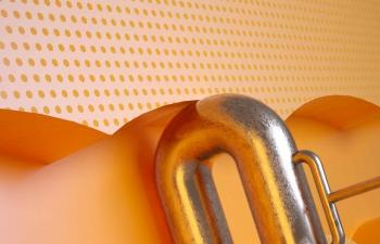 Octane渲染器黄金材质金属墙壁C4D模型