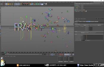 CINEMA 4D教程——破碎与效果器指数衰减