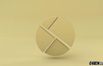 C4D教程:运动图形制作LOGO的动画