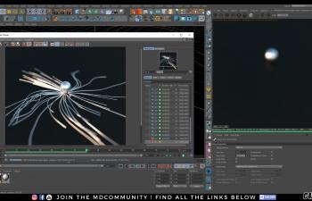 C4D教程-OCTANE渲染器与X-Particles 基础CINEMA 4D教程的mhsprod