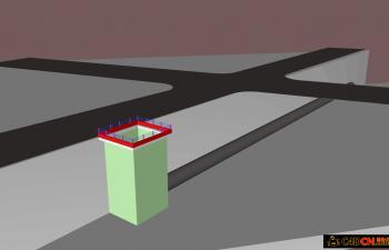 C4D地下管道铺设施工示意动画源文件