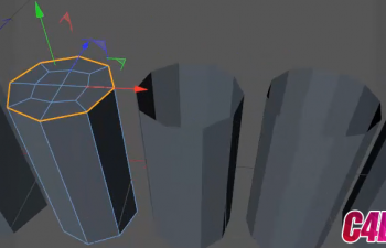 C4D多变形封闭孔洞插件 C4DZone Quad Caps 1.0 R13-R16
