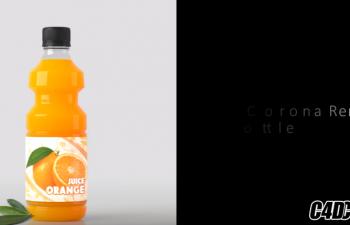 橙汁瓶子初级建模渲染教程