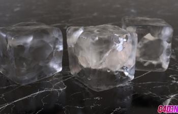 Octane渲染器真实冰块写实材质渲染C4D教程