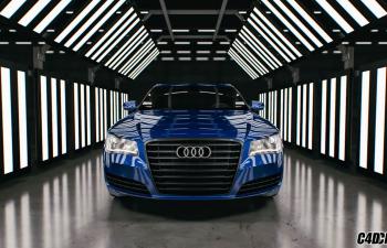 C4D汽车场景渲染预设 cinema 4d car paint 1.1 - studio