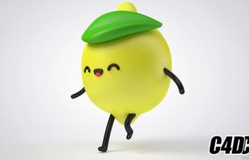 卡通柠檬角色动画教程