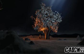 C4D+AE 创建一个成长的树动画教程