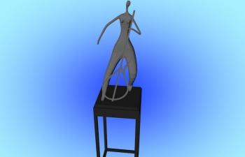 C4D音乐家雕塑模型