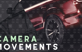 Cinema 4D教程-奥迪SUV汽车先进的摄像机运动和合成Octane渲染器C4D教程
