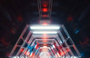 Octane渲染器光线渲染穿梭C4D模型