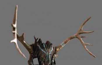 古代人木制面具模型,fbx格式,包括贴图