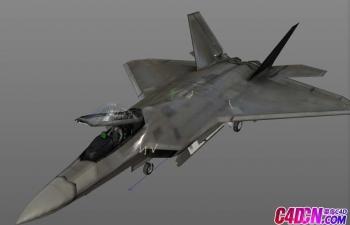 14套C4D军事模型 客机 战机 无人机 包括飞行员和停机场 有材质贴图