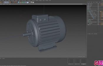 C4D教程 硬质表面压缩机电机建模