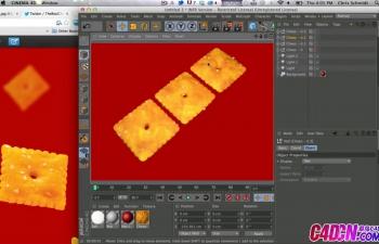 如何动画,照亮并呈现Cheez-It零食C4D教程 How To Animate, Light, And Render A Cheez-It Snack