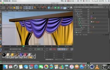 C4D窗帘布料模拟制作教程