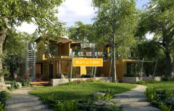 3D模型 林中小屋
