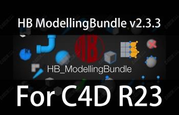 正版亲测HB modellingbundle高效建模C4D脚本合集V2.3.3 For C4D R23