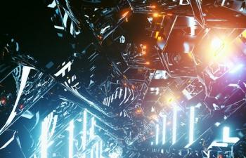 C4D精品工程 No.491 Corona渲染器科幻灯光明亮的飞船内部空间2