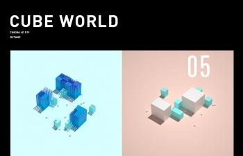方形构成与芯片概念设计