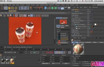 GSG214.如何用Light Kit Pro照亮反射灯光C4D教程