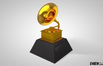 C4D黄金材质留声机模型