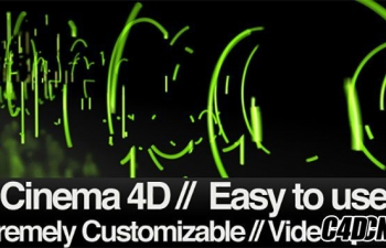 C4D+AE模板-三维字体路径描边动画 Type Trace Eraser