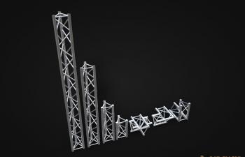 桁架模型可拼接Traversen RIG 3d model